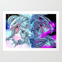 BLUEEYESWHITE/REDEYESBLACK - NO TEXT Art Print