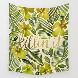 Killin' It – Tropical Yellow Wall Tapestry