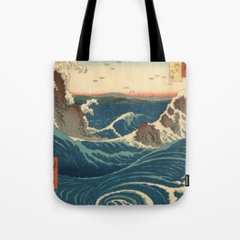 Vintage poster - Japanese Wave Tote Bag