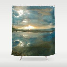 Brilliant Sunset on Lake Superior II Shower Curtain