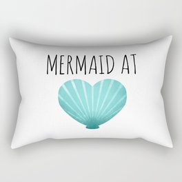 Mermaid At Heart  |  Teal Rectangular Pillow