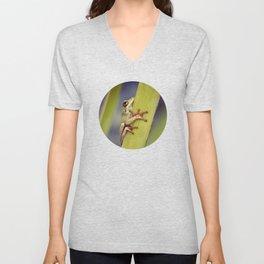 Arum lily frog - Animal Photography #Society6 Unisex V-Neck