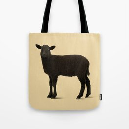 Black Lamb // Orange Tote Bag
