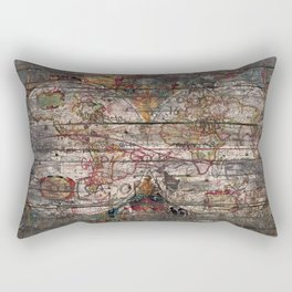 Old Map - New World Rectangular Pillow