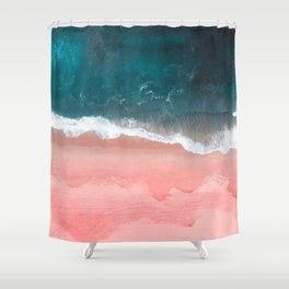 Turquoise Sea Pastel Beach III Shower Curtain