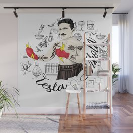 Electric Fist Wall Mural