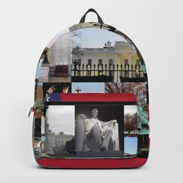 Washinton DC Collage Backpack