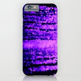 Purple Crystal Pixels iPhone Case