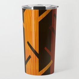 Retro Fall Woods by Friztin Travel Mug