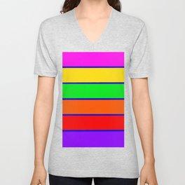 Colorful rAinbow stripes Unisex V-Neck
