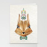 squirrel Stationery Cards featuring squirrel by Manoou