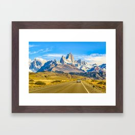 Snowy Andes Mountains, El Chalten, Argentina Framed Art Print
