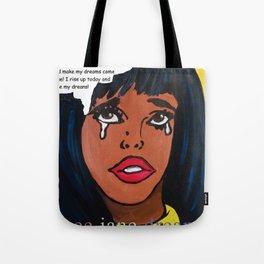 Popping Art Determination Tote Bag