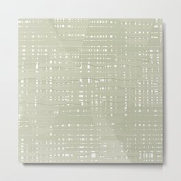 Green straw background Metal Print