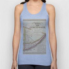 Cincinnati old map Unisex Tank Top