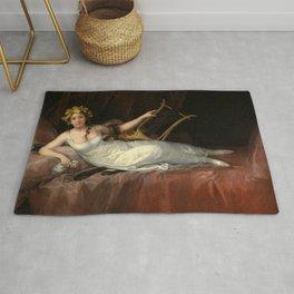 "Francisco Goya ""La Marquesa de Santa Cruz (The Marquise de Santa Cruz)"" Rug"