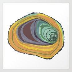 Tree Stump Series 1 - Illustration Art Print