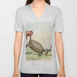 A Hearty Christmas to You All (ca1860-1900) from The Miriam and Ira D Wallach Division of Art Prints Unisex V-Neck