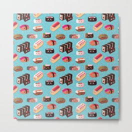 Doughnut Like Sushi Metal Print