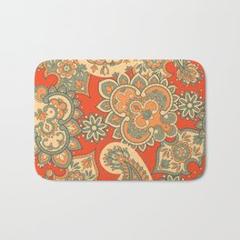 Seamless Paisley pattern in asian ethnic style. Floral illustration Bath Mat