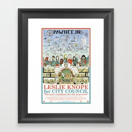 Leslie Knope for City Council - Parks and Recreation Dept. Framed Art Print