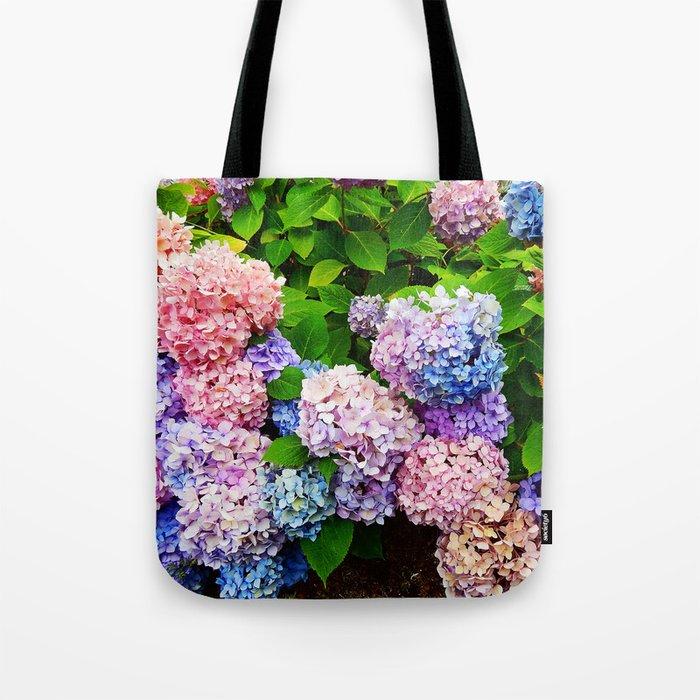 Rainbow of Flowers Tote Bag