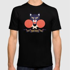 Ping Pong Panthers Mens Fitted Tee MEDIUM Black