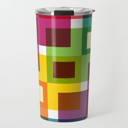 Geometric Pattern 11 (Colorful squares) Travel Mug