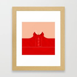 Lingeramas - Sexy Red Lingerie Top Framed Art Print