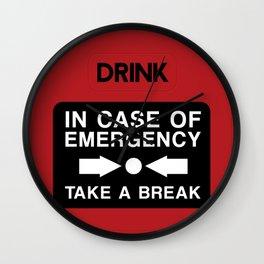 In Case of Emergency... Wall Clock