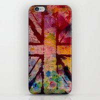 union jack iPhone & iPod Skins featuring Union Jack  by ChandaElaine