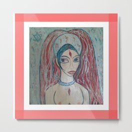 framed LILITH Metal Print