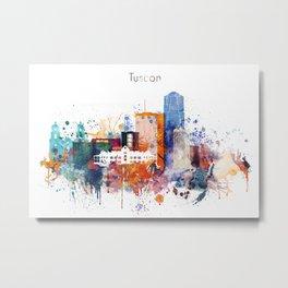 Watercolor Tucson watercolor skyline Metal Print