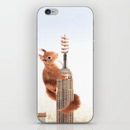 Squirrel-zilla iPhone Skin