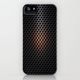 Punched metal hot spot - MASK iPhone Case