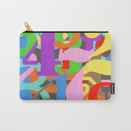 Paint Numbers by Numbers Typography Carry-All Pouch