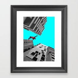 Spidy in Milan Framed Art Print