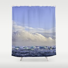 Jokulsarlon Lagoon Beach 07 Shower Curtain