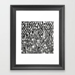 BOKEH BLACK & WHITE Framed Art Print