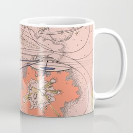 Galactic Battle Print Coffee Mug