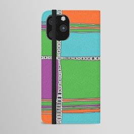 Bright plaids iPhone Wallet Case