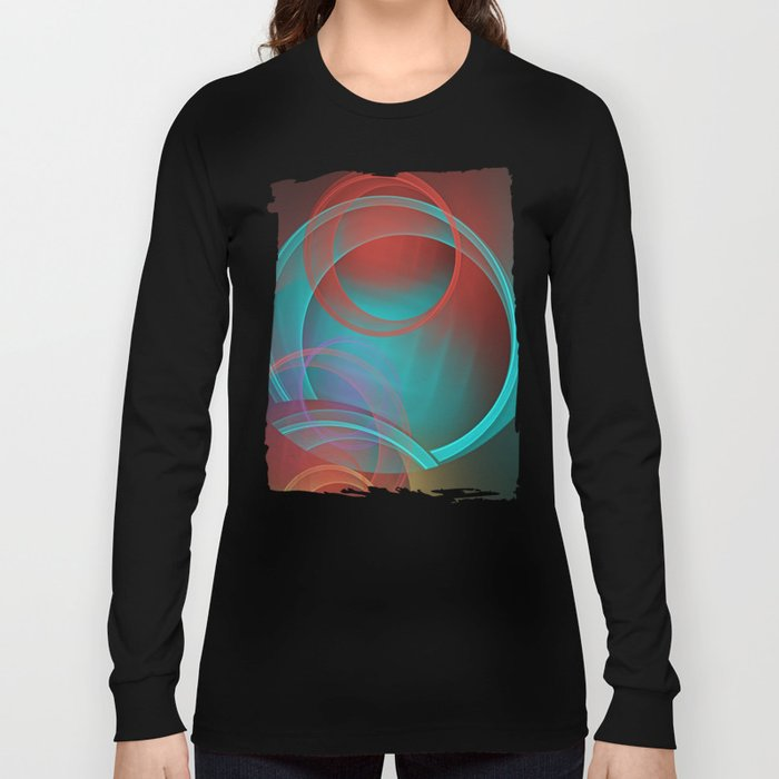 Abstract with translucent geometric shapes Long Sleeve T-shirt