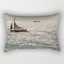 Dutch Sailboat on the North Sea close to Terschelling Rectangular Pillow