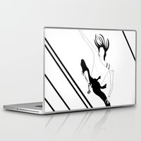 manga Laptop & iPad Skins featuring CHICA MANGA by Pelotica Monroe