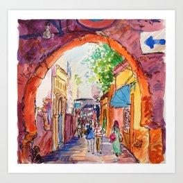 Alleyway Marrakech Art Print