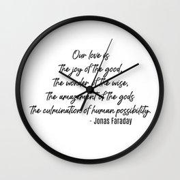 Jonas Faraday Wall Clock