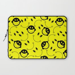 Seamless monkey tongue in yellow Laptop Sleeve