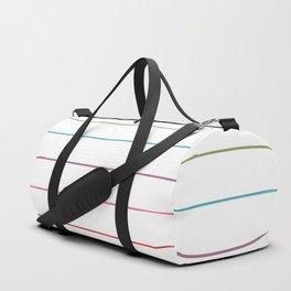 Horizontal Rainbow Stripes Duffle Bag