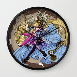 chi in wonderland Wall Clock