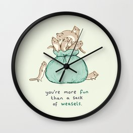 Sack of Weasels Wall Clock